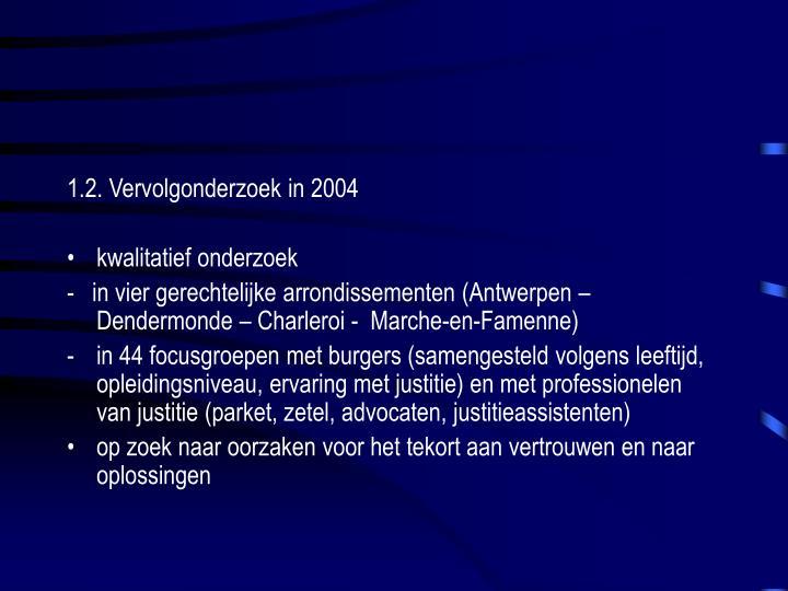 1.2. Vervolgonderzoek in 2004