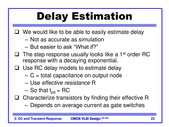 Delay Estimation