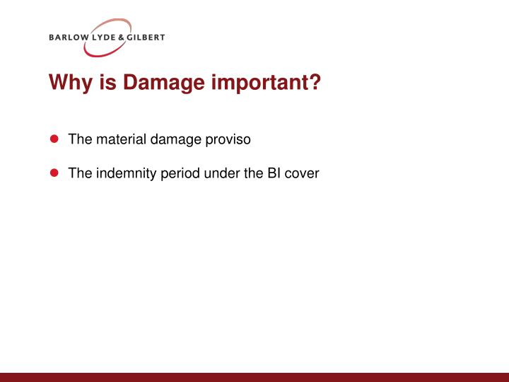 Why is damage important