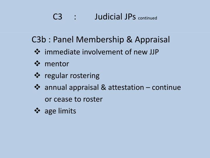 C3:Judicial JPs