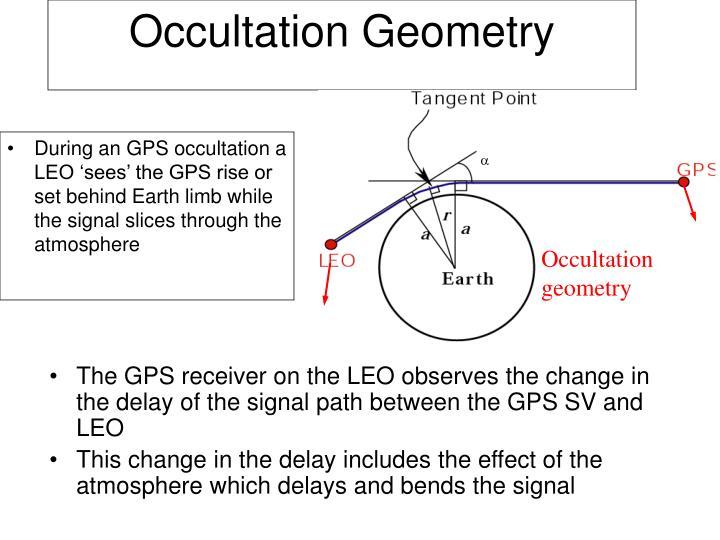 Occultation geometry