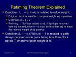 retiming theorem explained
