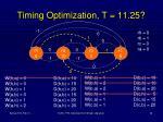 timing optimization t 11 25
