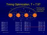 timing optimization t 7 51