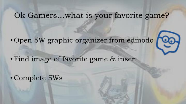 Ok gamers what is your favorite game