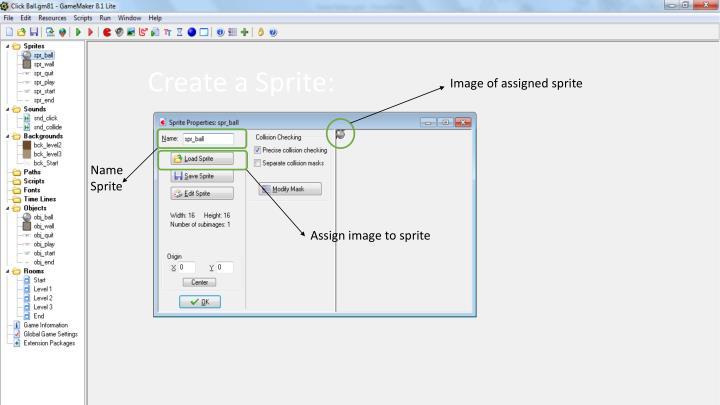 Create a Sprite: