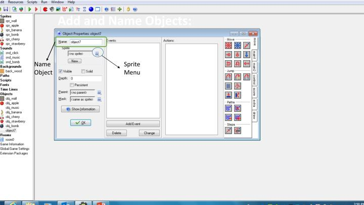 Add and Name Objects: