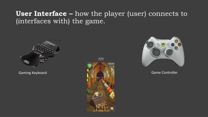 User Interface –