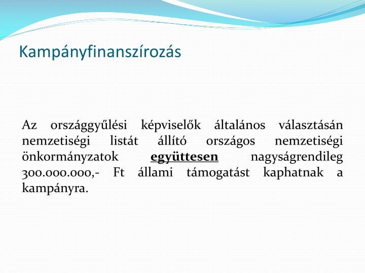 Kampányfinanszírozás
