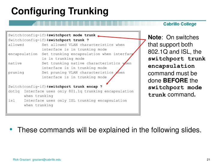 Configuring Trunking