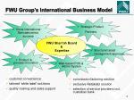fwu group s international business model