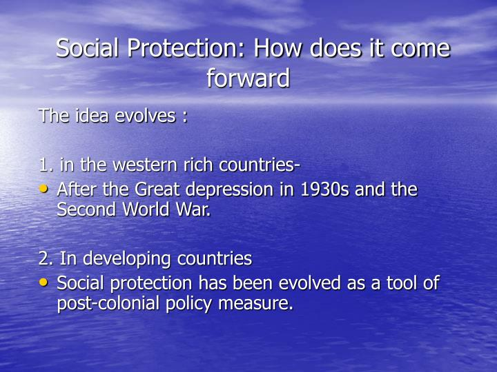 Social protection how does it come forward
