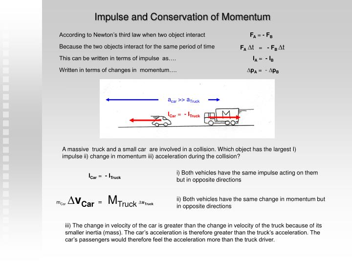 Impulse and Conservation of Momentum