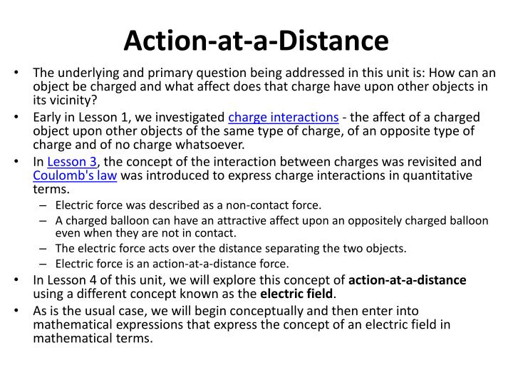 Action-at-a-Distance