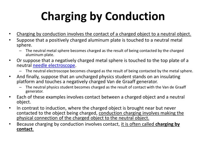 Charging by conduction1