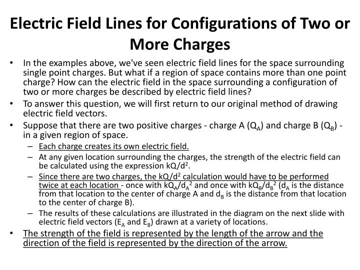 Electric Field Lines for Configurations of Two or More Charges