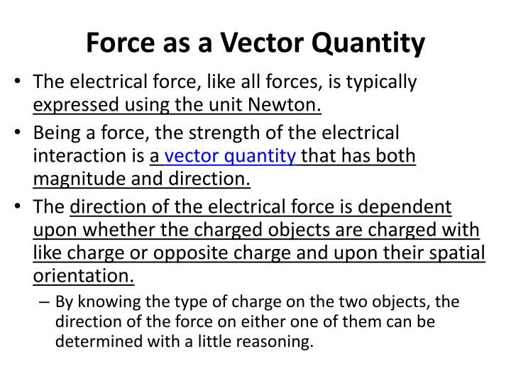 Force as a Vector Quantity