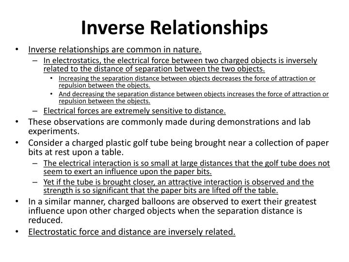 Inverse Relationships