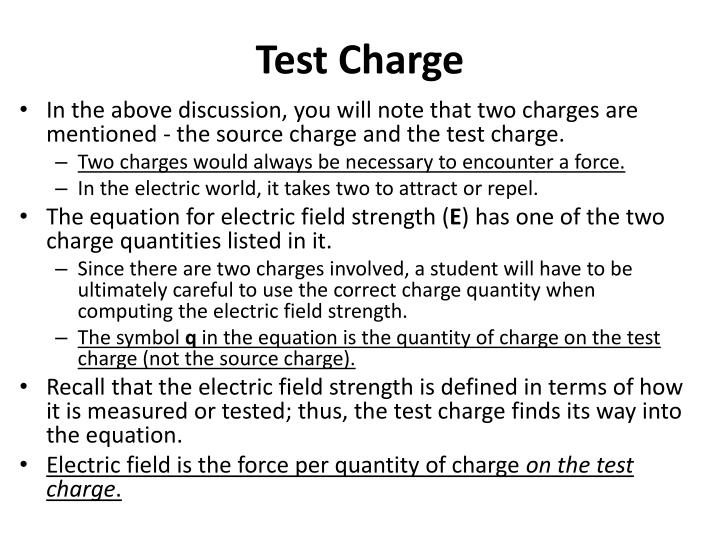 Test Charge