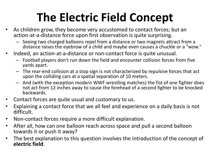 The Electric Field Concept