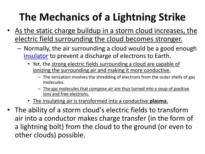 The Mechanics of a Lightning Strike