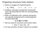 projective structure from motion1