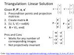 triangulation linear solution1