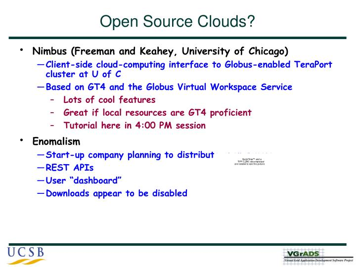 Open Source Clouds?