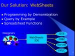 our solution websheets
