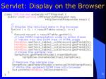 servlet display on the browser