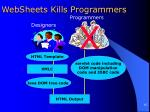 websheets kills programmers