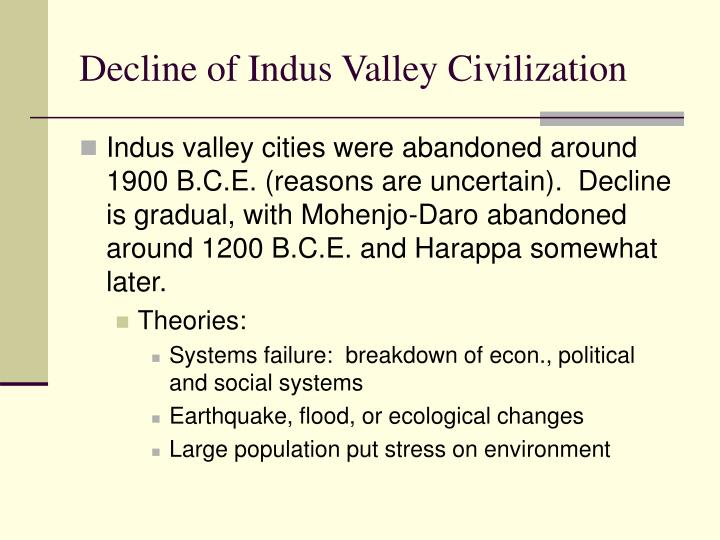 Decline of Indus Valley Civilization