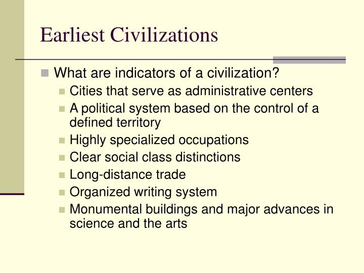 Earliest Civilizations