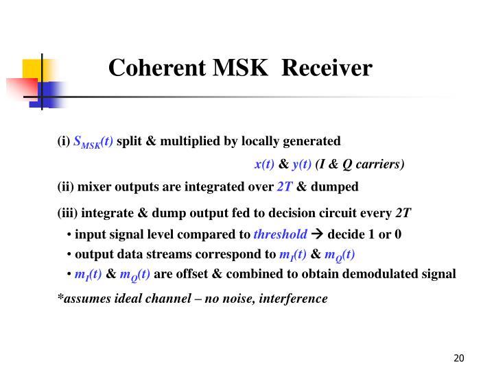 Coherent MSK  Receiver