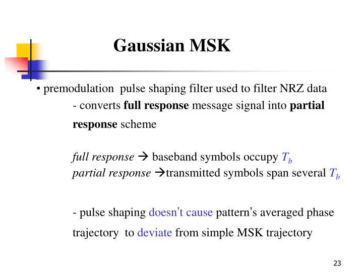 Gaussian MSK