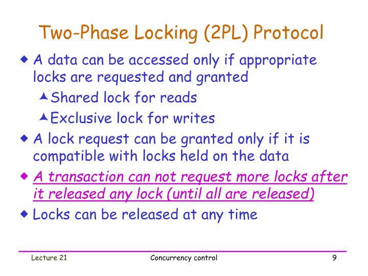 Two-Phase Locking (2PL) Protocol