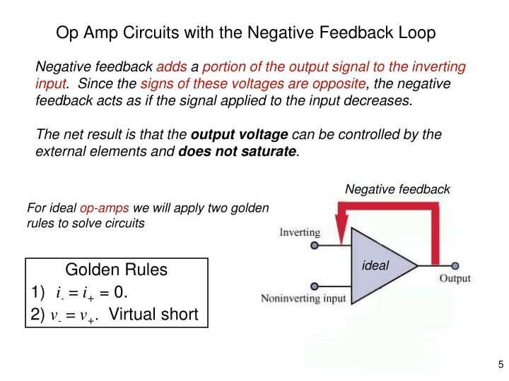 Op Amp Circuits with the Negative Feedback Loop