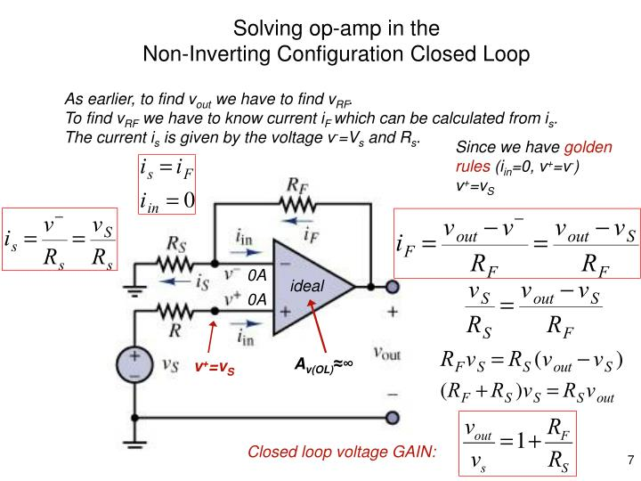 Solving op-amp in the