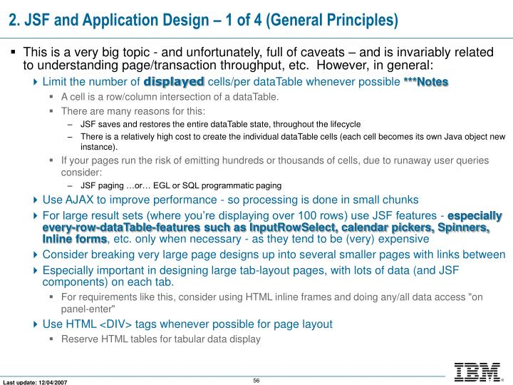 2. JSF and Application Design – 1 of 4 (General Principles)