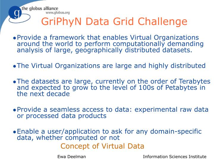 GriPhyN Data Grid Challenge