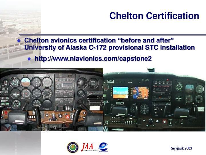 Chelton Certification