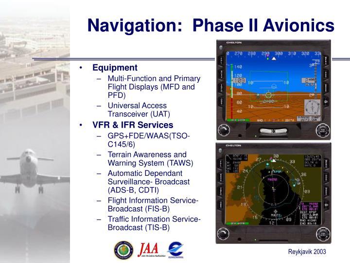 Navigation:  Phase II Avionics
