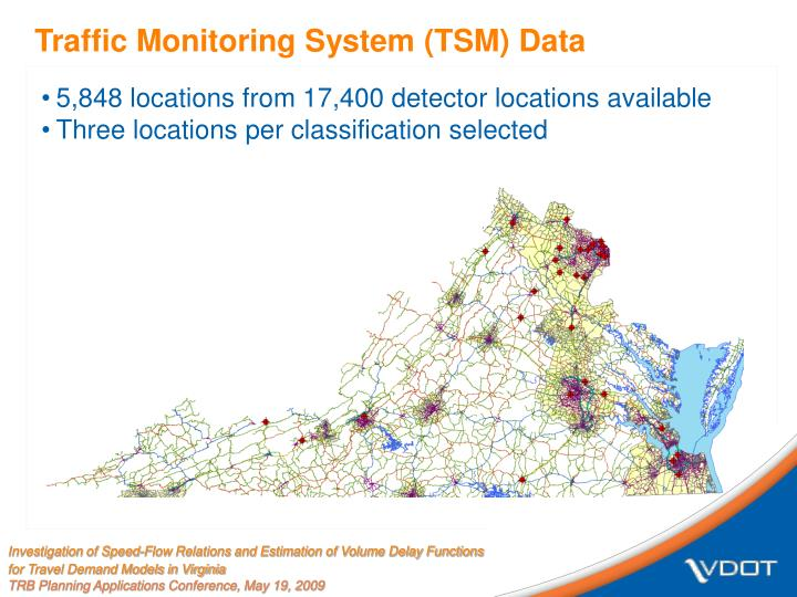 Traffic Monitoring System (TSM) Data