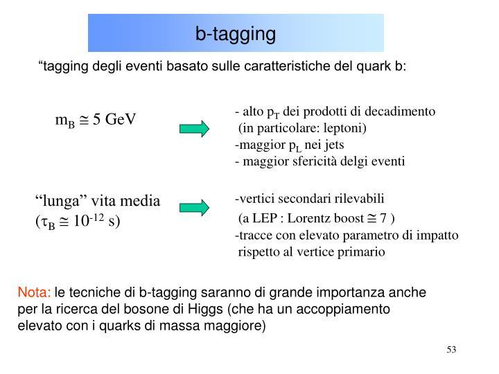 b-tagging