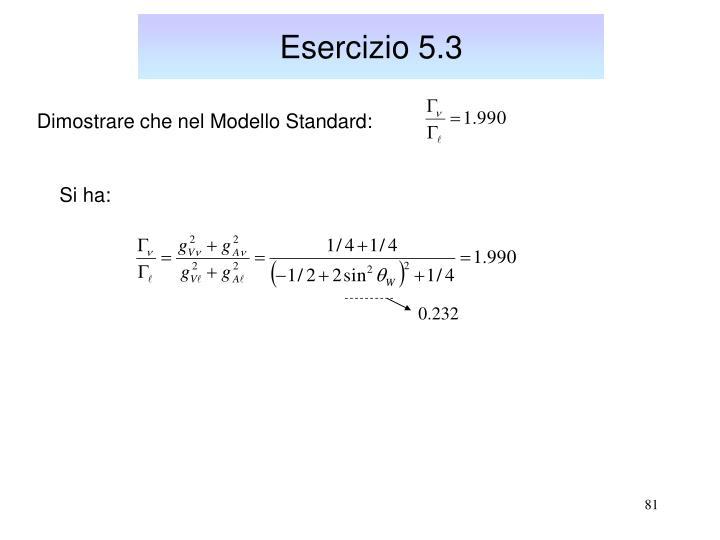 Esercizio 5.3