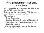 real programmers don t use submitters
