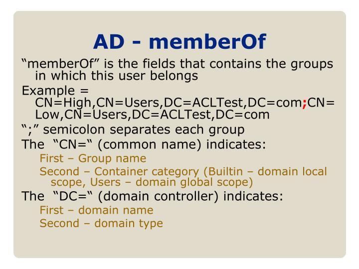 AD - memberOf