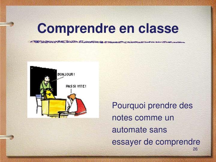 Comprendre en classe