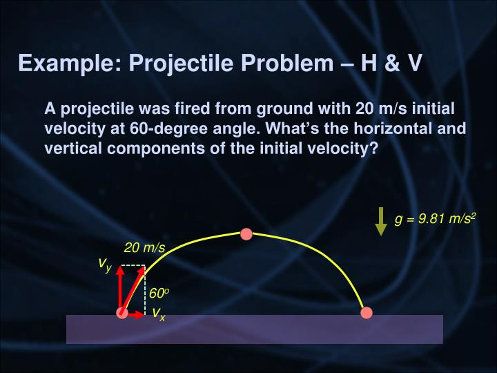 Example: Projectile Problem – H & V
