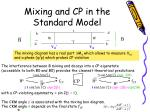 mixing and cp in the standard model